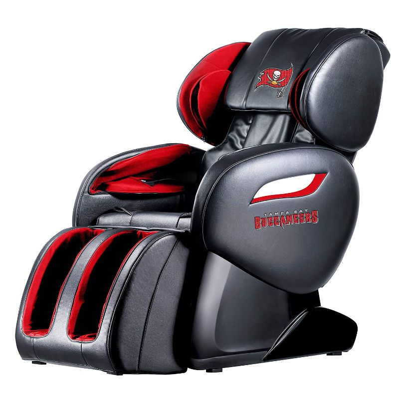 NFL Electric Full Body Shiatsu Massage Chair with Foot Roller-Tampa Bay Buccaneers-Daily Steals
