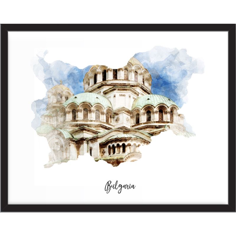 Bulgaria Watercolor Map Print - Unframed Art Print-Daily Steals