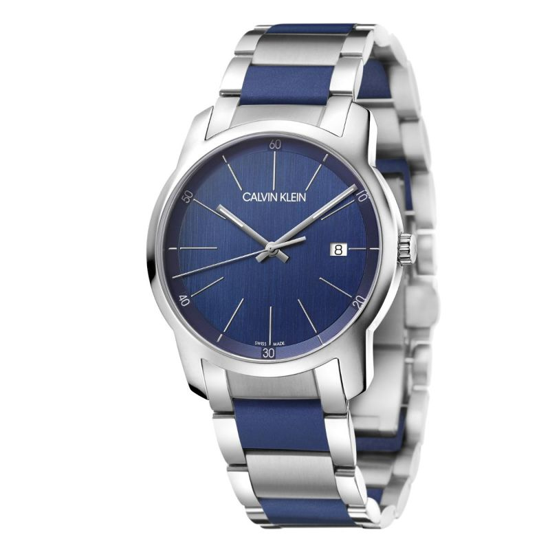 City Extension Quartz Two Tone Men's Watch-Blue Dial-Daily Steals
