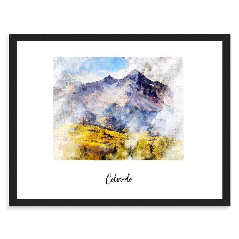 "Colorado Watercolor Map Print - Unframed Art Print-18""x12""-Horizontal/Landscape-Daily Steals"