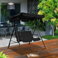 Causeuse Patio Amorti Patio Swing Glider-Black-Daily Steals