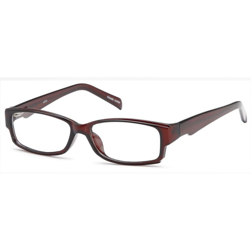 Men's Eyeglasses 55 17 140 Brown Plastic