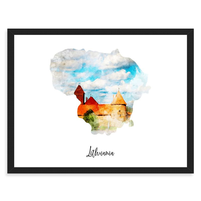 Lithuania Watercolor Map Print - Unframed Art Print-Daily Steals
