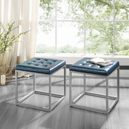 Logan PU Leather Cube Ottoman-Daily Steals