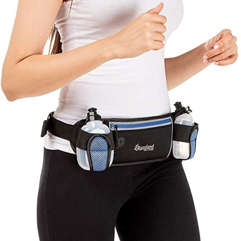 Rangland Running Sports Hydration Fanny Pack with 4 Water Bottles