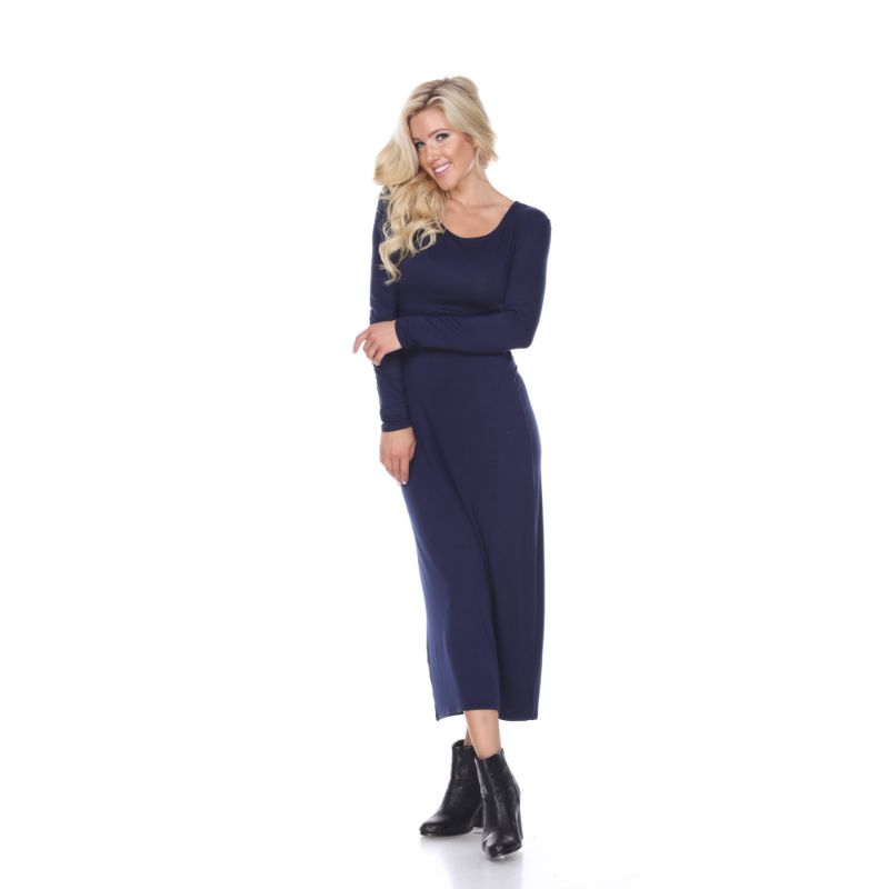 WhiteMark 'Ria' Dress-Navy-L-Daily Steals