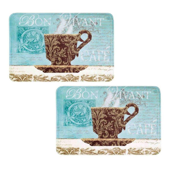 Comfort Chef Anti-Fatigue Premium Kitchen Mat-Bon Viant - 2 Pack-Daily Steals