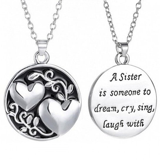 Daily Steals-Jewelry Gift - 12 Styles-Jewelry-Two-Sided Sister Pendant-