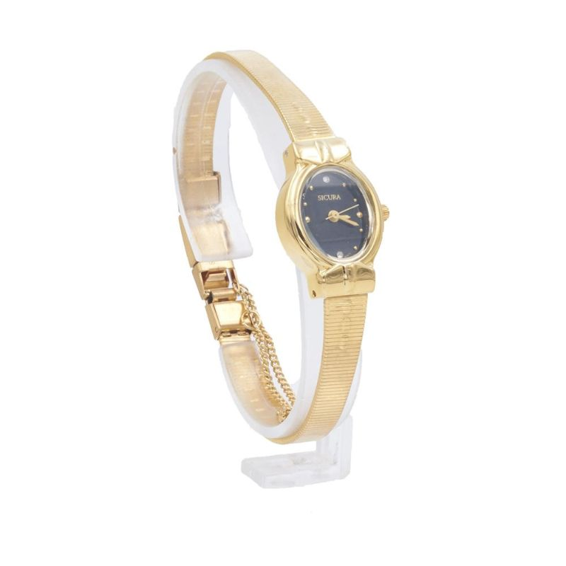 Sicura Women's Watches SJD1972-BK Quartz Stainless Steel Gold Tone