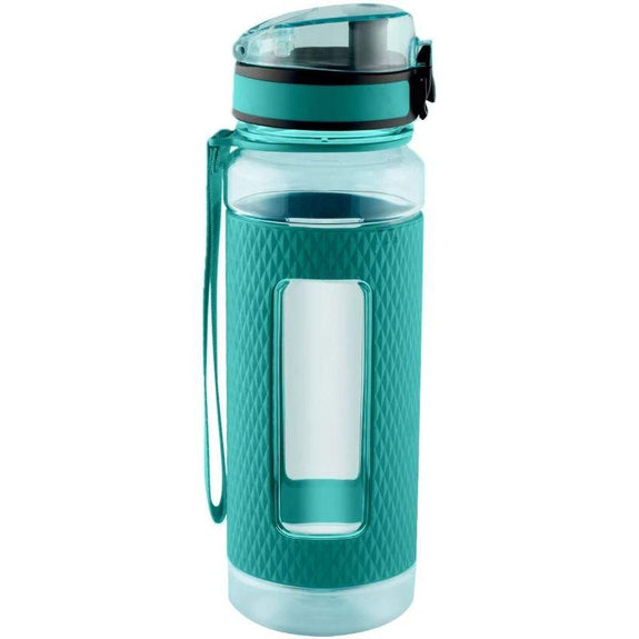 Swig Savvy Sports Water Bottle with Silicone Sleeve, Wide Mouth Leak Proof - 25oz-Green-Daily Steals