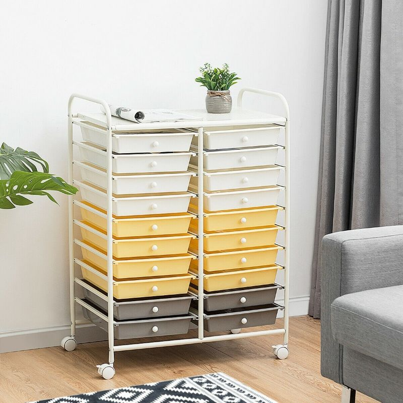 Storage Rolling Organizer Cart with 20 Drawers