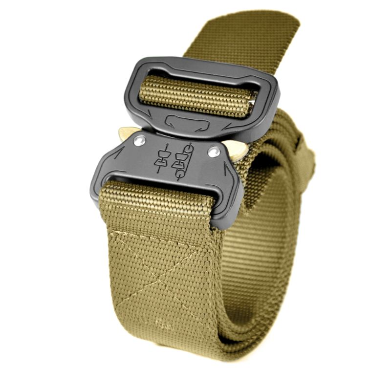 "Tactical 1.5"" Military Style Heavy-Duty Belt, Fast-Release Metal Buckle-Tan-Daily Steals"