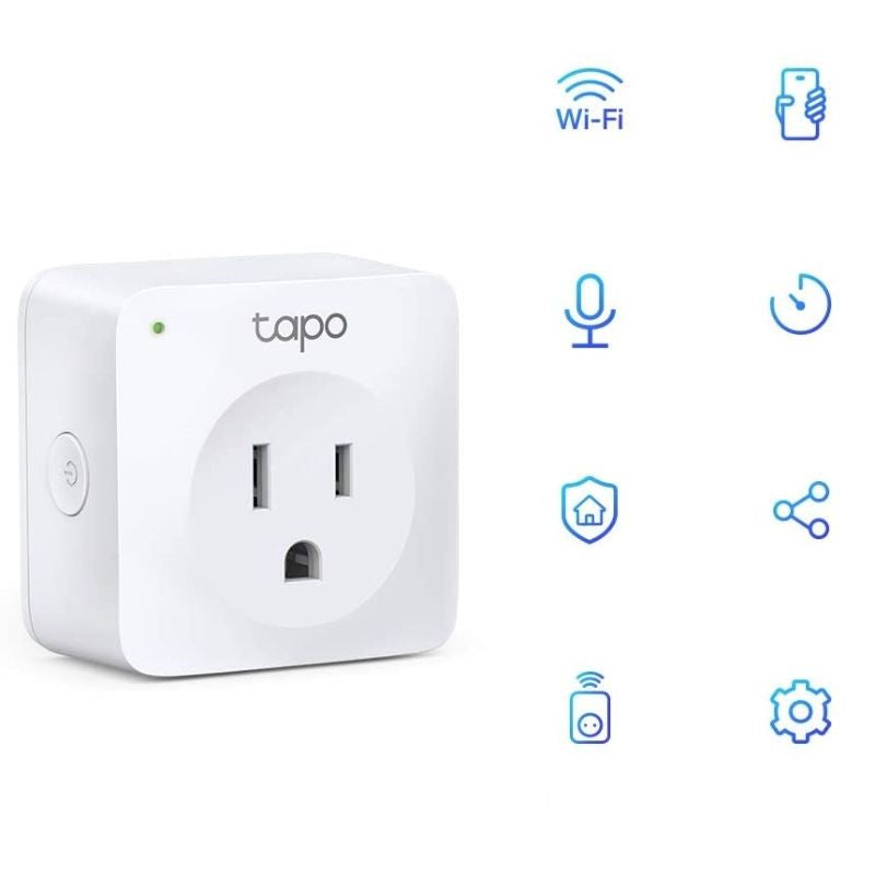 TP-Link Tapo Smart Plug Mini, Smart Home Wifi Outlet Fungerar med Alexa Echo och Google Home, ny Tapo APP behövs