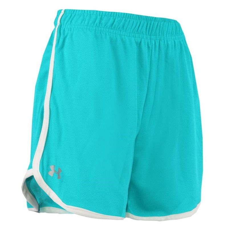 Under Armour Women's Heatgear Running Shorts-Turquoise-XL-Daily Steals