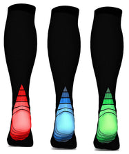 [3 or 6 Pairs] Unisex Sports Compression Socks-Red/Blue/Green - 3 pairs-S/M-Daily Steals