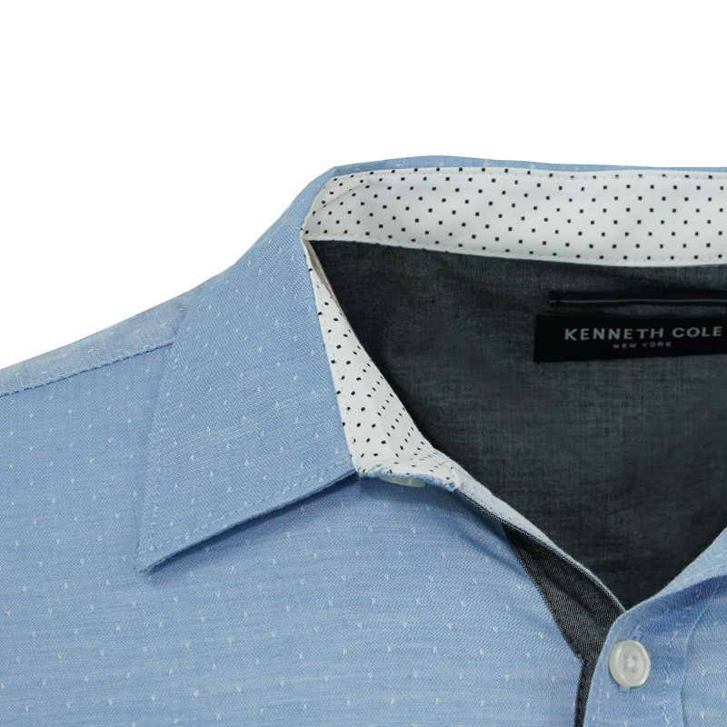 Kenneth Cole Men's Button Up Dobby Dot Dress Shirts-Daily Steals