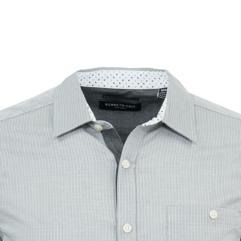 Kenneth Cole Men's Button Up Textured Dobby Dress Shirts-Daily Steals