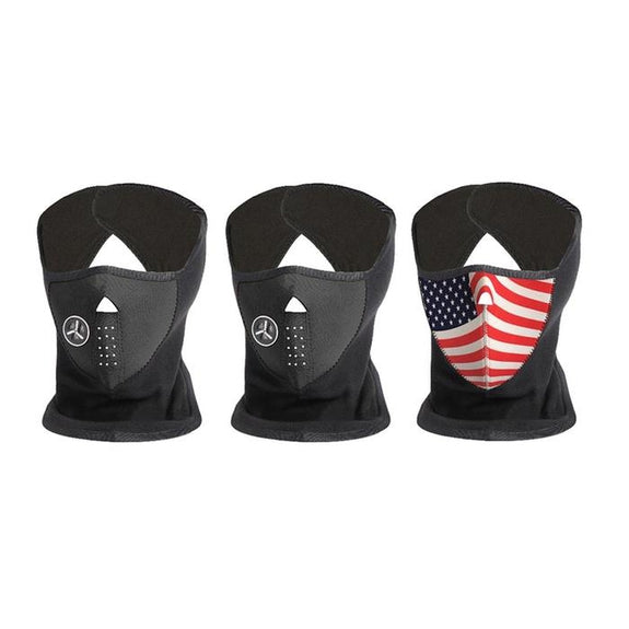 [3-Pack] Unisex Fleece Winter Cold-Weather Mask-2 Black, 1 USA-Daily Steals