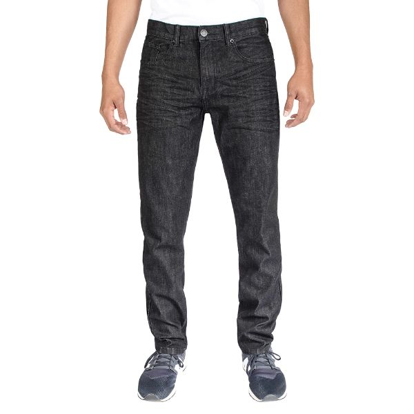 Men's Stretch Skinny Slim Fit 5-Pocket Fashion Jeans-Black Wash-28x30-Daily Steals