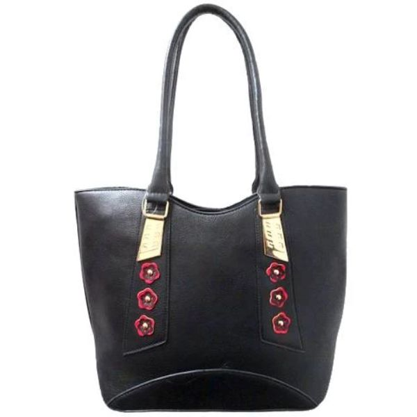 Stylish Tote Vintage Leather Handbag-Black-Daily Steals