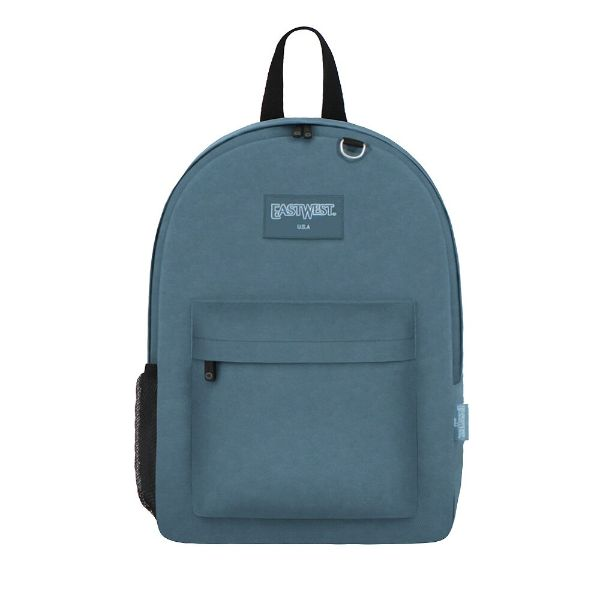 East West Classic Backpack with Key Holder and Bottle Holder-Blue-Daily Steals