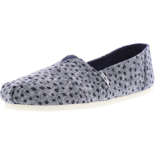 Toms Women's Classic Slub Chambray Ankle-High Canvas Slip-On Shoes-Blue-6-Daily Steals