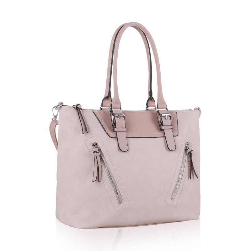 Leone Satchel Handbag by MKF-Blush-Daily Steals