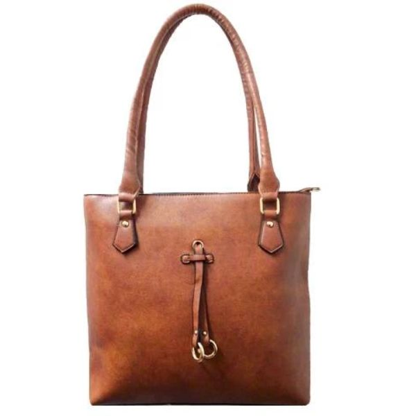 Patterson Leather Emily Tote-Camel-Daily Steals