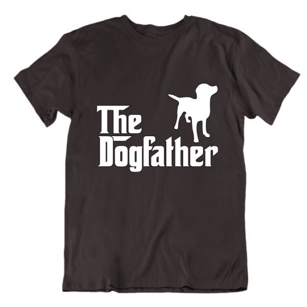 """The Dogfather"" T-Shirt-Charcoal-Large-Daily Steals"