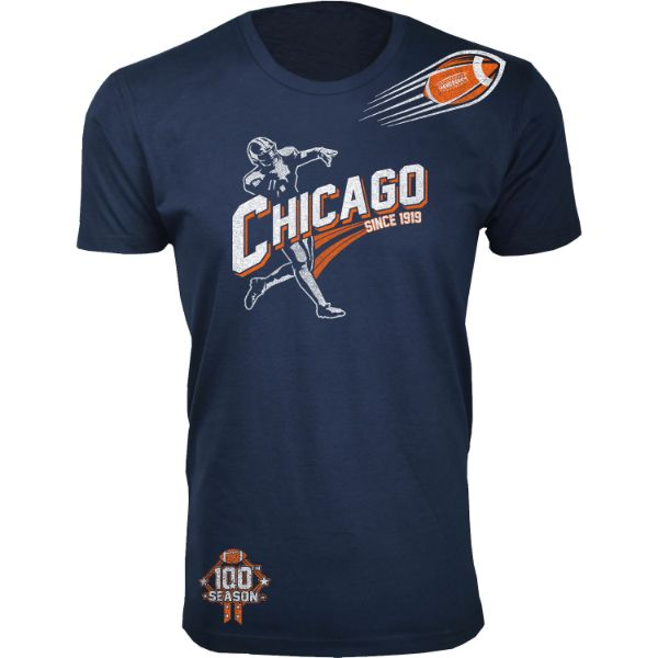 Men's Football Season T-Shirts-Chicago - Navy-S-Daily Steals