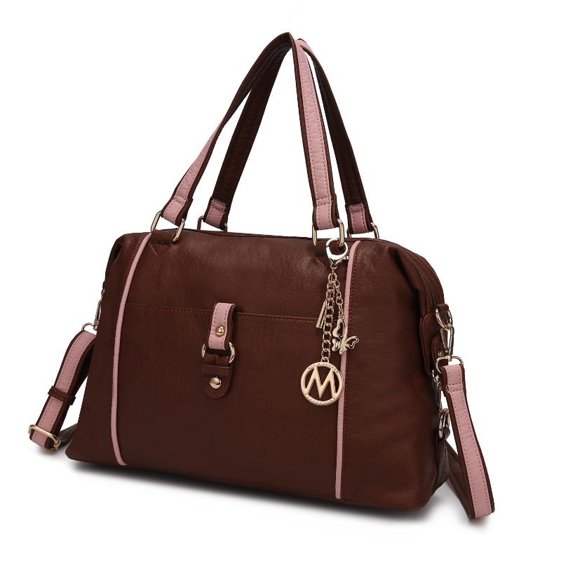 Opal Satchel Handbag by MKF-Cognac-Pink-Daily Steals
