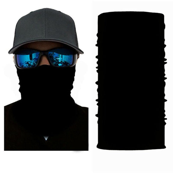 Face Mask and Neck Warmer with Dust and Sun UV Protection for Snowboarding-Black-Daily Steals