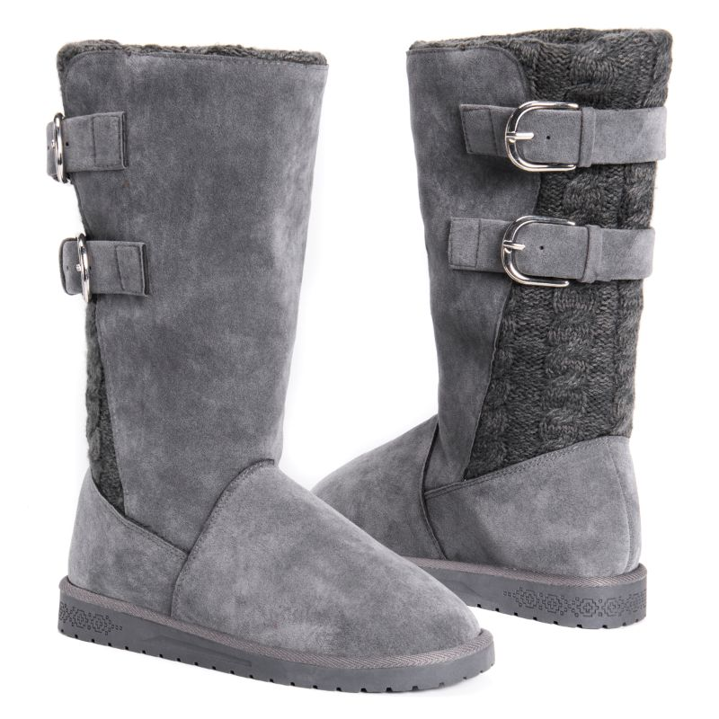 MUK LUKS Women's Jean Boots-Grey-6-Daily Steals