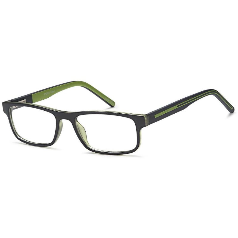 Unisex Eyeglasses 48 16 135 Black Green Plastic