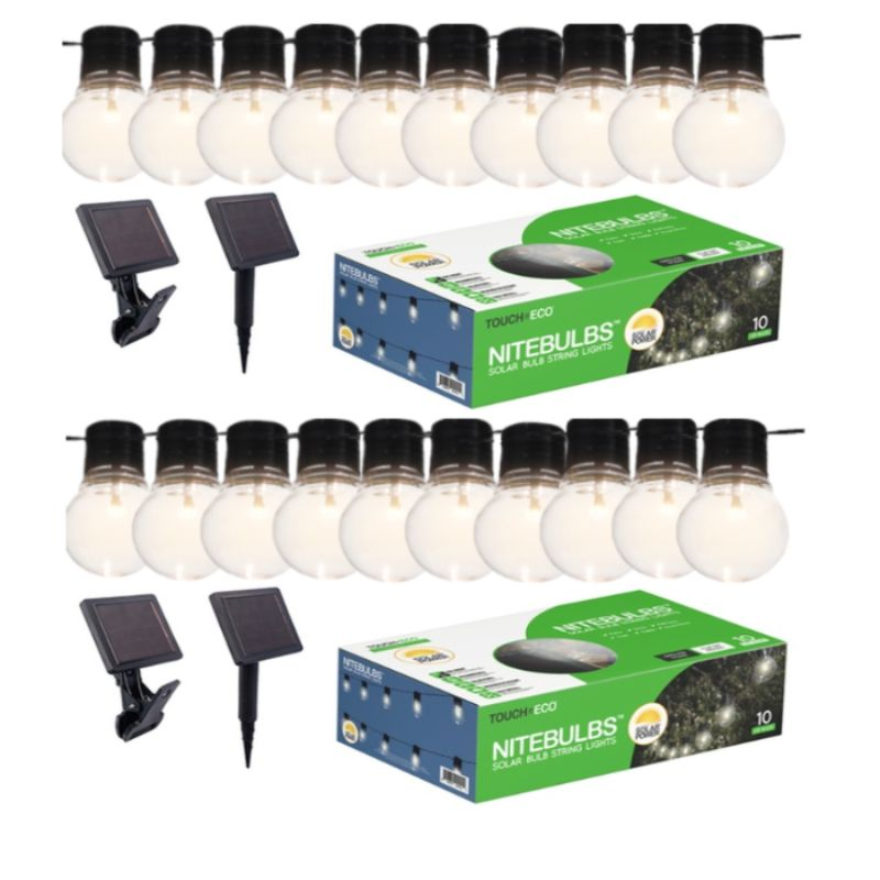 Solar 20Ft. Edison-Style Patio Lights - Socialite-2 Pack-Daily Steals