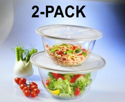 [2-Pack] MagicCover Transparent Silicone Storage Lids - Fits any Container- 2 Piece Set-Daily Steals