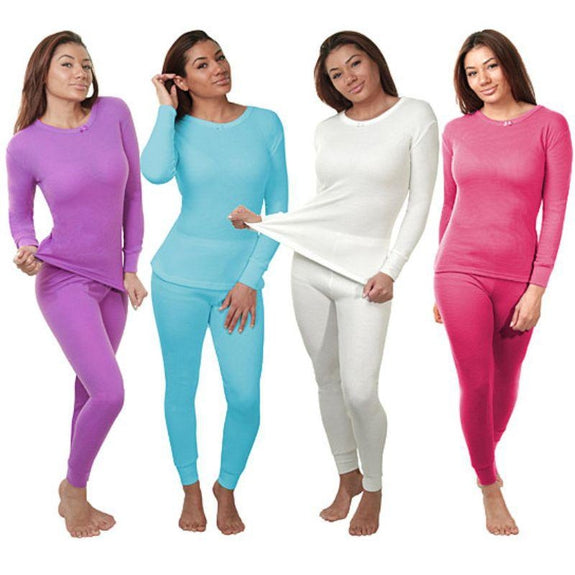 2-Piece Women's Super Soft 100% Cotton Thermal Set (S-2X)-Daily Steals