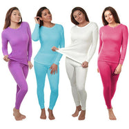 2-Piece Women's Super Soft 100% Cotton Thermal Set