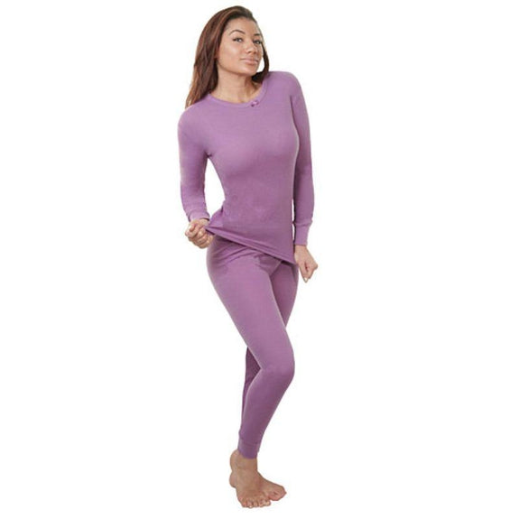 2-Piece Women's Super Soft 100% Cotton Thermal Set (S-2X)-Pink-Small-Daily Steals
