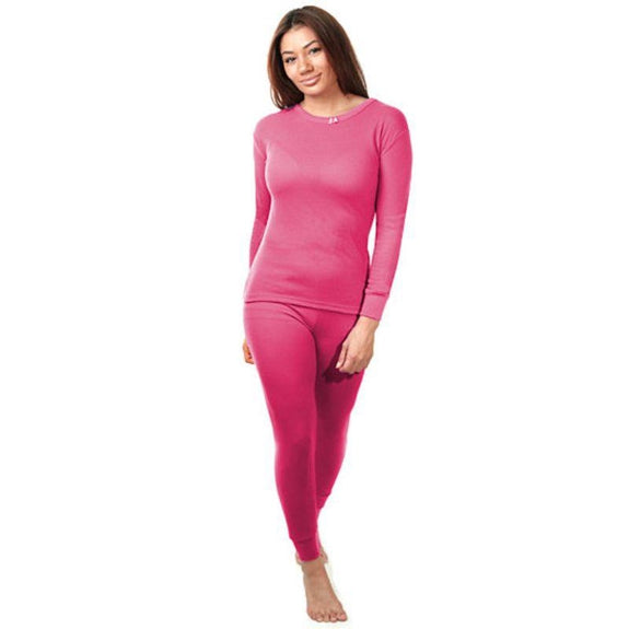 2-Piece Women's Super Soft 100% Cotton Thermal Set (S-2X)-Red-Small-Daily Steals