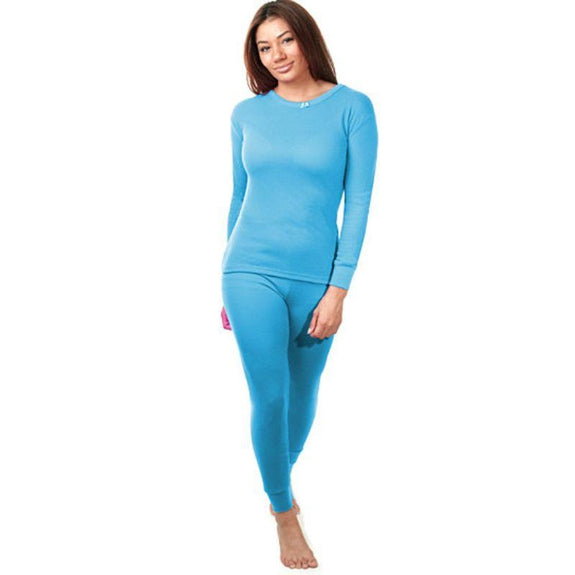 2-Piece Women's Super Soft 100% Cotton Thermal Set (S-2X)-Teal-Small-Daily Steals