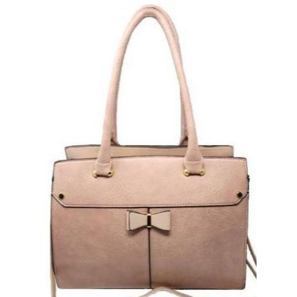 Women Leather Shoulder Vintage Tote Handbag-Pink-Daily Steals