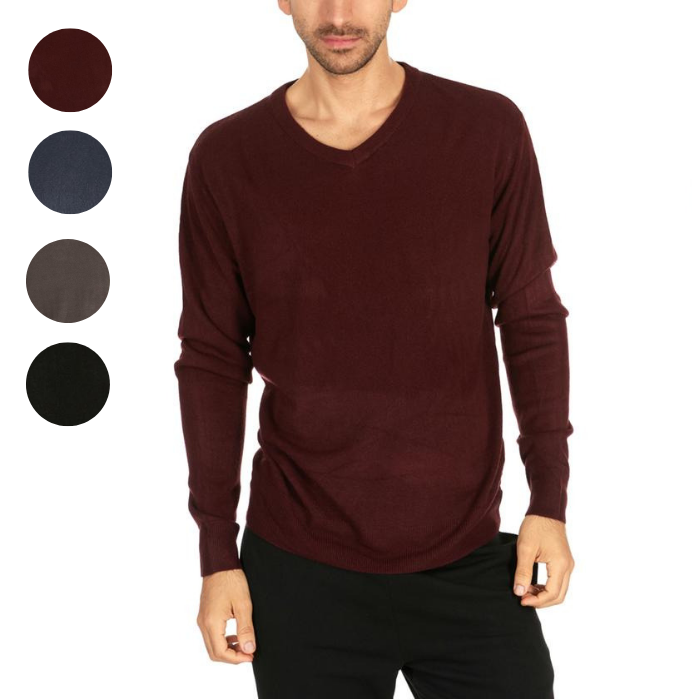 update alt-text with template Daily Steals-Men's Mystery V-Neck Pullover Sweaters - 2 Pack-Men's Apparel-Large-