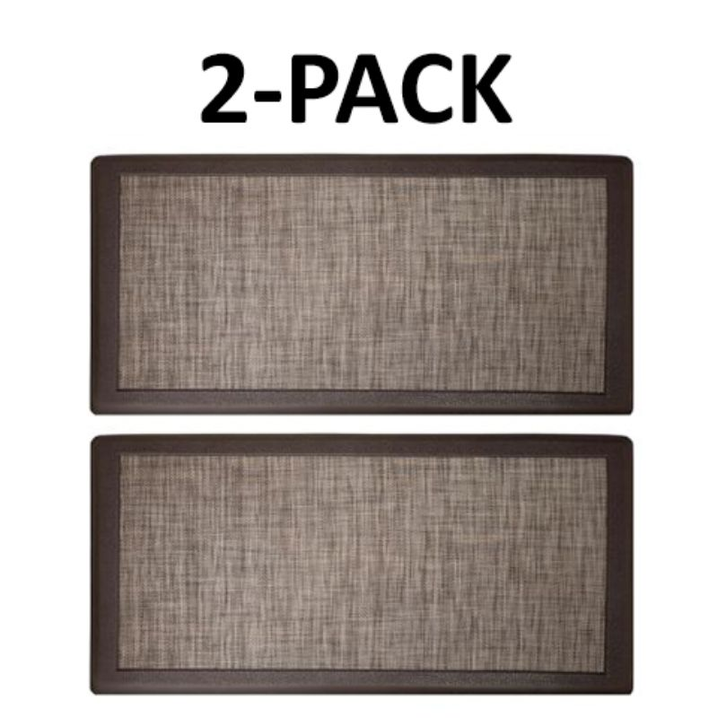 David Burke Hillside Anti-Fatigue Kitchen Mat - 2 Pack-Beige-Daily Steals