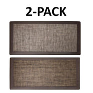 David Burke Hillside Anti-Fatigue Kitchen Mat - 2 Pack-Beige and Espresso-Daily Steals