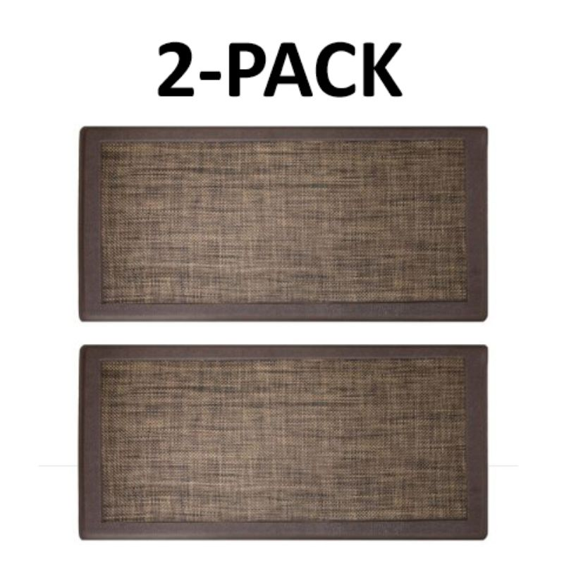 David Burke Hillside Anti-Fatigue Kitchen Mat - 2 Pack-Espresso-Daily Steals