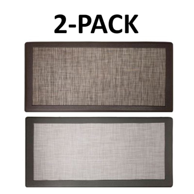 David Burke Hillside Anti-Fatigue Kitchen Mat - 2 Pack-Grey and Beige-Daily Steals