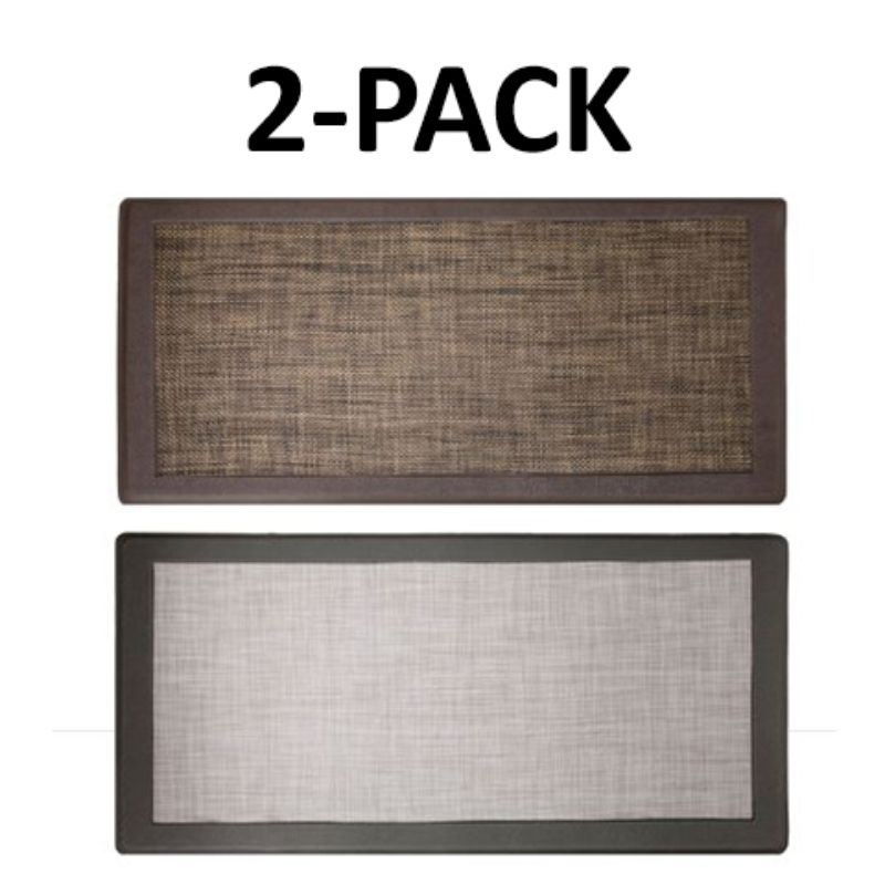 David Burke Hillside Anti-Fatigue Kitchen Mat - 2 Pack-Grey and Espresso-Daily Steals