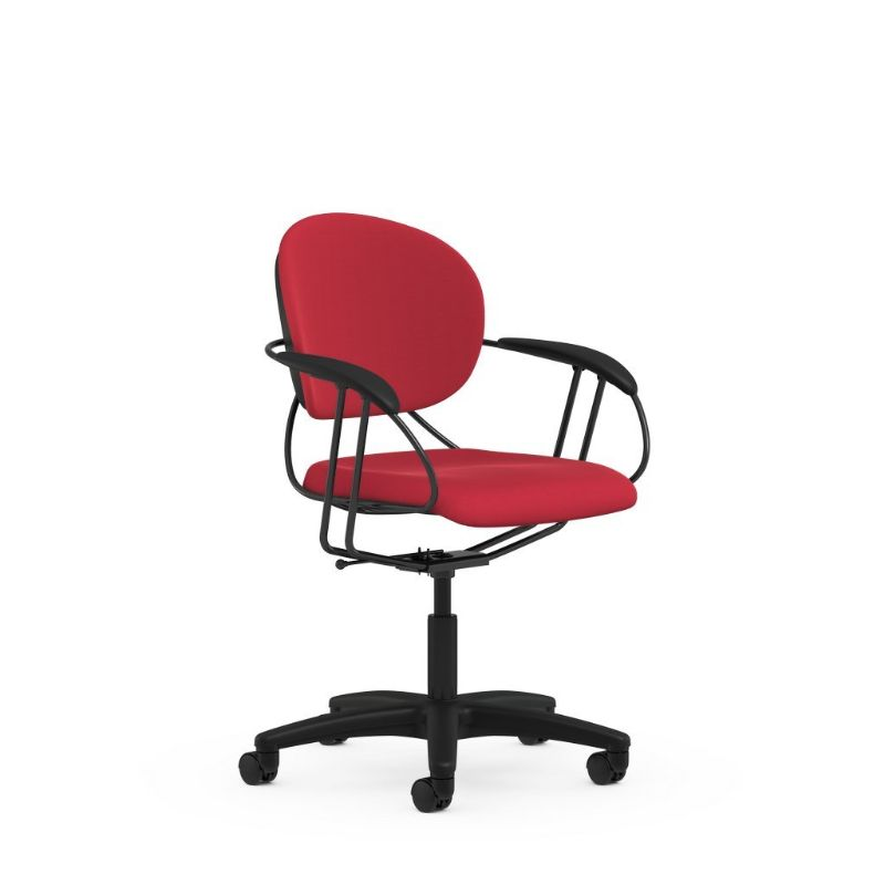 Steelcase Uno Multipurpose Chair - Mid Back-Burgundy-Daily Steals