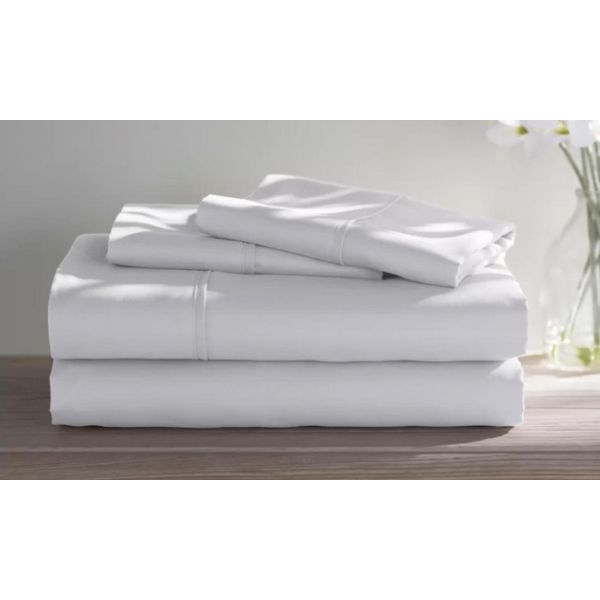 Dorm Room Bamboo Twin Extra Long Sheet Set- 3 Piece-White-Twin XL-Daily Steals